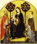 Virgin and Child with St. Nicholas and St. Catherine.