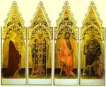 St. Mary Magdalene, St. Nicholas of Bari, St. John the Baptist, St. George. Side panels of the Quara