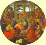 The Adoration of the Magi.
